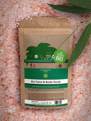 Coconutoilcosmetics Bio Arc- és Testradír Matcha teával