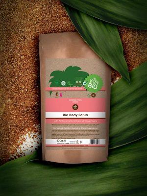 Coconutoilcosmetics Bio Testradír Arabica kávéval & Kókuszvirág cukorral