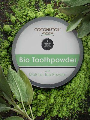 Coconutoilcosmetics Bio Fogpor Matcha Teával